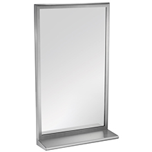 ASI - 20657 Roval Inter-Lok Stainless Steel Framed Mirrors with Shelf -Plate Glass - 10-20655-1836