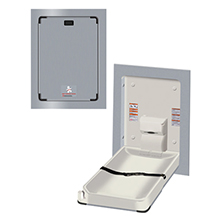 ASI - Baby Changing Station - VERTICAL Surface Mounted STAINLESS STEEL - 10-9017-9