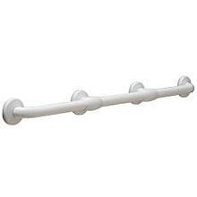 "Bobrick - 1 5/16"" (33MM) DIAMETER VINYL-COATED BARIATRIC GRAB BAR WITH REINFORCED FLANGES 980616X36"