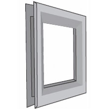 "National Guard - 24"" x 32"" L-FRA100-SP 1 3/4""DR GALV Std Finish/1/2"" Glass Thickness"