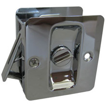 Trimco - 1065 Pocket Door Pull - Privacy 625: Bright Chrome Plated