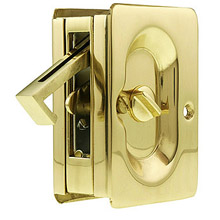 Trimco - 1065 Pocket Door Pull - Privacy 605: Polished Brass
