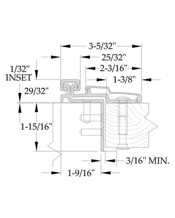 ABH - Continuous Hinge A211HDC 83