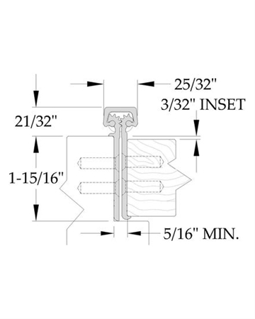 ABH - Continuous Hinge A240LLD 83