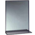 Bobrick - Channel Framed 18W By 24H Mirror-Shelf 166 1824 DS-BR22