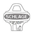 Schlage - Key Blanks 35-003 C124 KEYWAY 288191