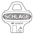 Schlage - Everest, Standard Bow Key Blanks 35-009 - C123 Keyway 31840