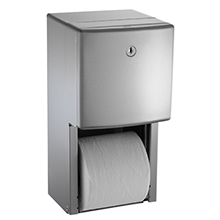 ASI - Roval Semi-Recessed Mounted Twin Hide-A-Roll Toilet Tissue Dispenser DS-ASI2268