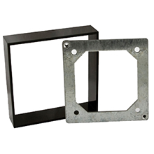 "BEA - Black bracket in place of mounting box for 6"", 4.5"" round and 4.75"" square push plate - 10PBBRACKET DS-BEA82"