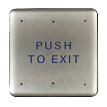 "BEA - 4.75"" Square PUSH TO EXIT text - 10PBSE DS-BEA107"