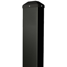 "BEA - Black Bollard 42""H X 6""W X 4""D - With Out Holes 10BOLLARDBLKWOH DS-BEA485"