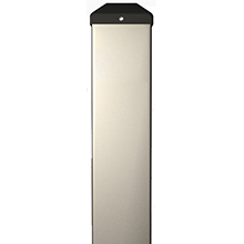 "BEA - Silver Bollard 42""H X 6""W X 4""D - With Out Holes 10BOLLARDSLVWOH DS-BEA487"