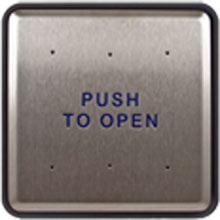 "BEA - 6"" Square Push Plate w/ Push to Open Text Only 10PBS6 DS-BEA247"