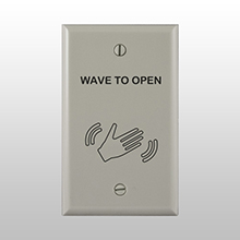 "BEA - ACCESSORY - Single Gang WHITE Faceplate with ""Wave to Open"" Text & Artwork 70.5268 DS-BEA592"