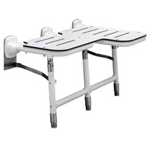 Bobrick - Bariatric Reversible Folding Shower Seat With Legs 918116L DS-BR498