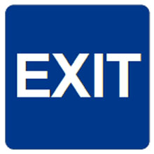 Don-Jo - Sign HS 9070 35 BLUE (Exit) 32132