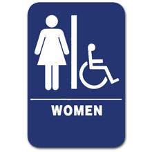 Eaglestone - Sign, Restroom, Women/Accessible, Blue/White - 1504 32411