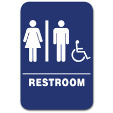 Eaglestone - Sign, Restroom, Unisex/Accessible, Blue/White - 1506 32416