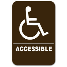 Eaglestone - Sign, HC Accessible, Brown/White - 3810 32407