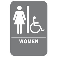 Eaglestone - Sign, Restroom, Women/Accessible, Grey/White - 4404 32413