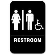 Eaglestone - Sign, Restroom, Unisex/Accessible, Black/White - 5306 32419