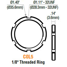 GMS - Mort Cyl Threaded Ring COL5 478857