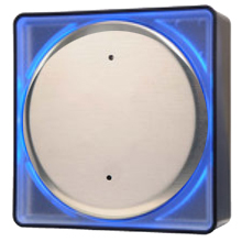"Larco - 4R0U0LED, Wall Sw 4-1/2"" Rd ""Plain"" LED DS-LA140"