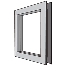"Pemko - 22"" x 30"" LT-B4G Low Profile Beveled GALV Gray Primer 663710"