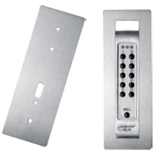Securitron - Digital Keypad  Cover Plate [3 x 8]  Satin Stainless - DK-CPSS DS-SE141