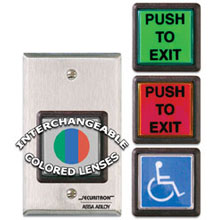 Securitron - Emergency Exit Button  w/ 30 sec. Timer  Single Gang - EEB2 DS-SE185