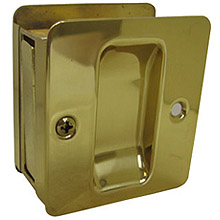 Trimco - 1064 Pocket Door Pull - Passage 605: Polished Brass 31018
