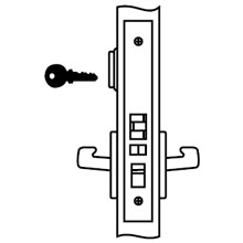 Yale - Lockset AUR 8807FL LC 626 DS-YA106
