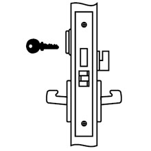 Yale - Lockset AUR 8822FL LC 626 DS-YA116