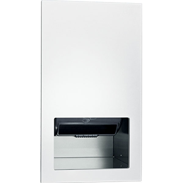 ASI - Piatto Completely Recessed Automatic Roll Paper Towel Dispenser - AC Power - White Phenolic Door - 10-645210AC-00 DS-ASI2565
