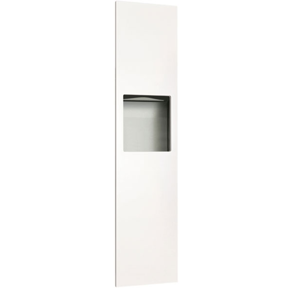 ASI - Piatto Completely Recessed Paper Towel Dispenser & Waste Receptacle - White Phenolic Door - 10-6467-00 DS-ASI2573